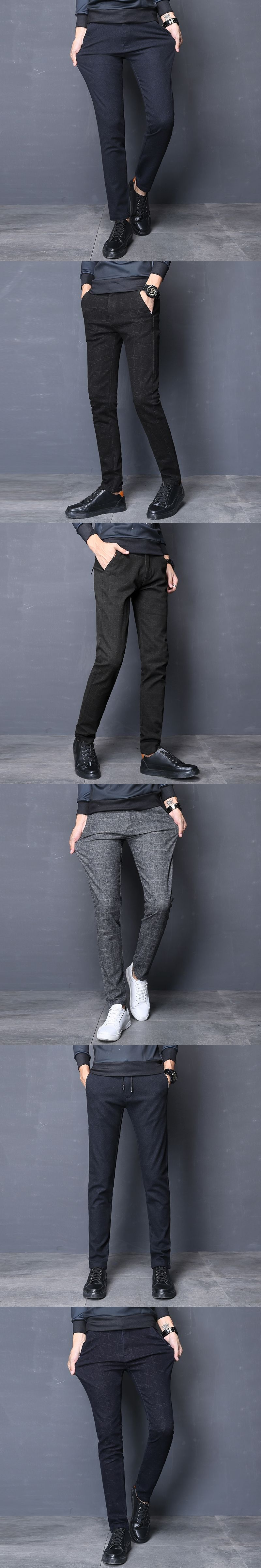 new pants menus casual stretch brand pants comfort straight leg