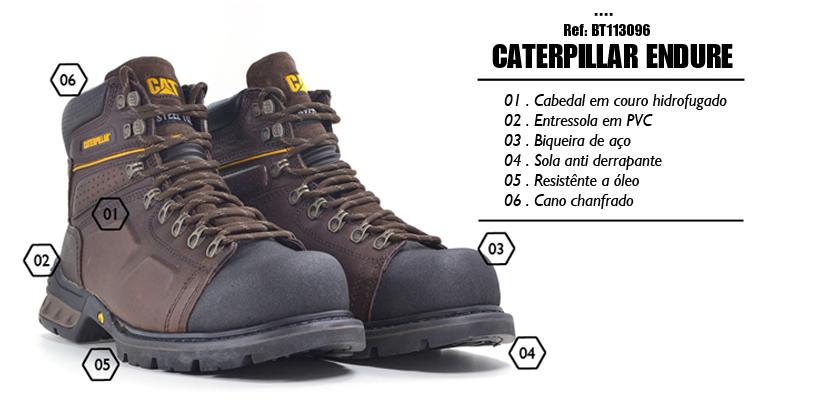 Bota Caterpillar Endure na Black Boots   Botas Equipamentos   Botas ... 611e2049f7