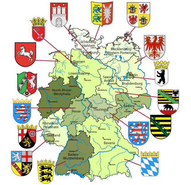 Map Of Germany With Links To Each State And Within Each State You - Map 9f germany