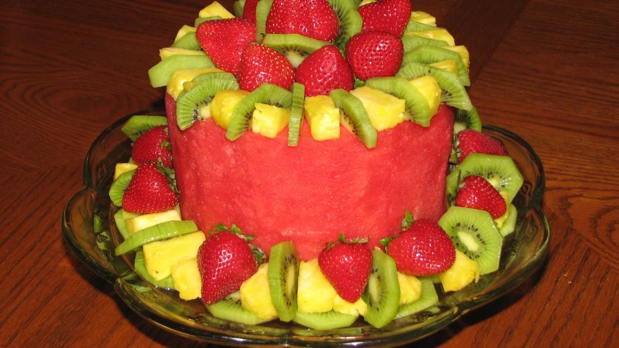 Fruit Cake Fresh Fruit In The Shape Of A Cake Recipe With