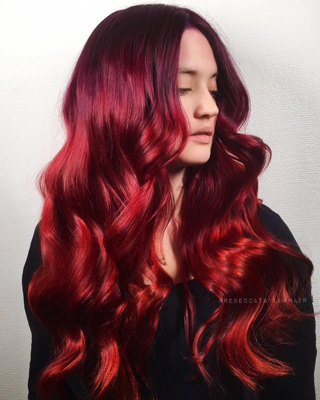 Lush By Rebeccataylorhair I Used Kenra 6rr With Red Booster On Level 7 Prelightened Balayage Haircolor Colorfulhai Hot Hair Styles Hair Color Balayage