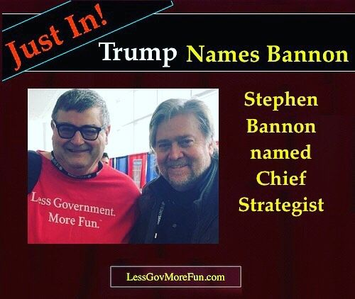 . BREAKING!  Stephen Bannon named Chief Strategist for Donald J. Trump administration #MAGA #USA #cpac2016 #america