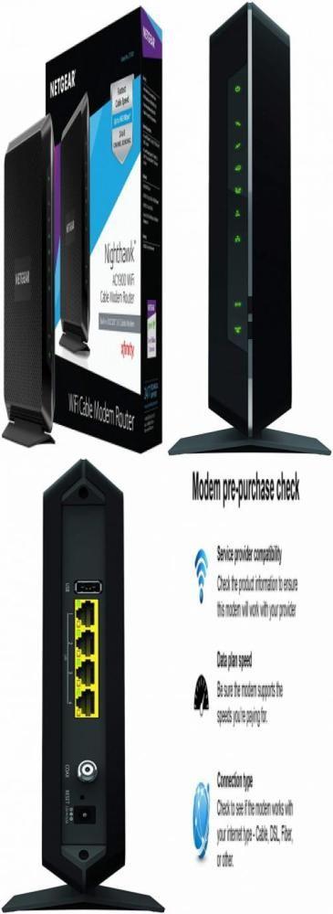 NETGEAR Nighthawk AC1900 (24x8) DOCSIS 3 0 WiFi Cable Modem