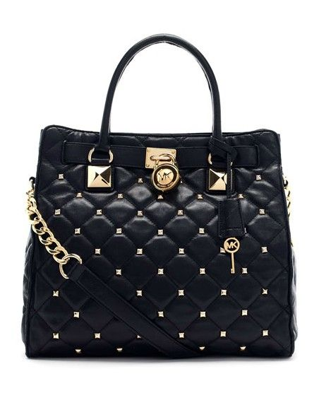Michael Michael Kors Large Hamilton Studded Quilted Tote Black. Some less  than $100 OMG!