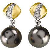 Pearl/Gold Earrings