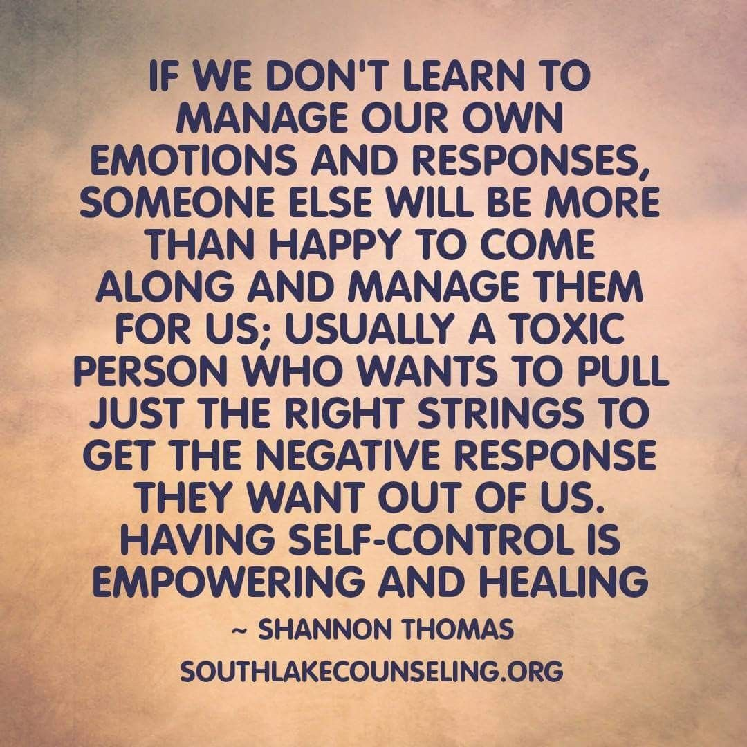 Self Control Is Empowering And Healing