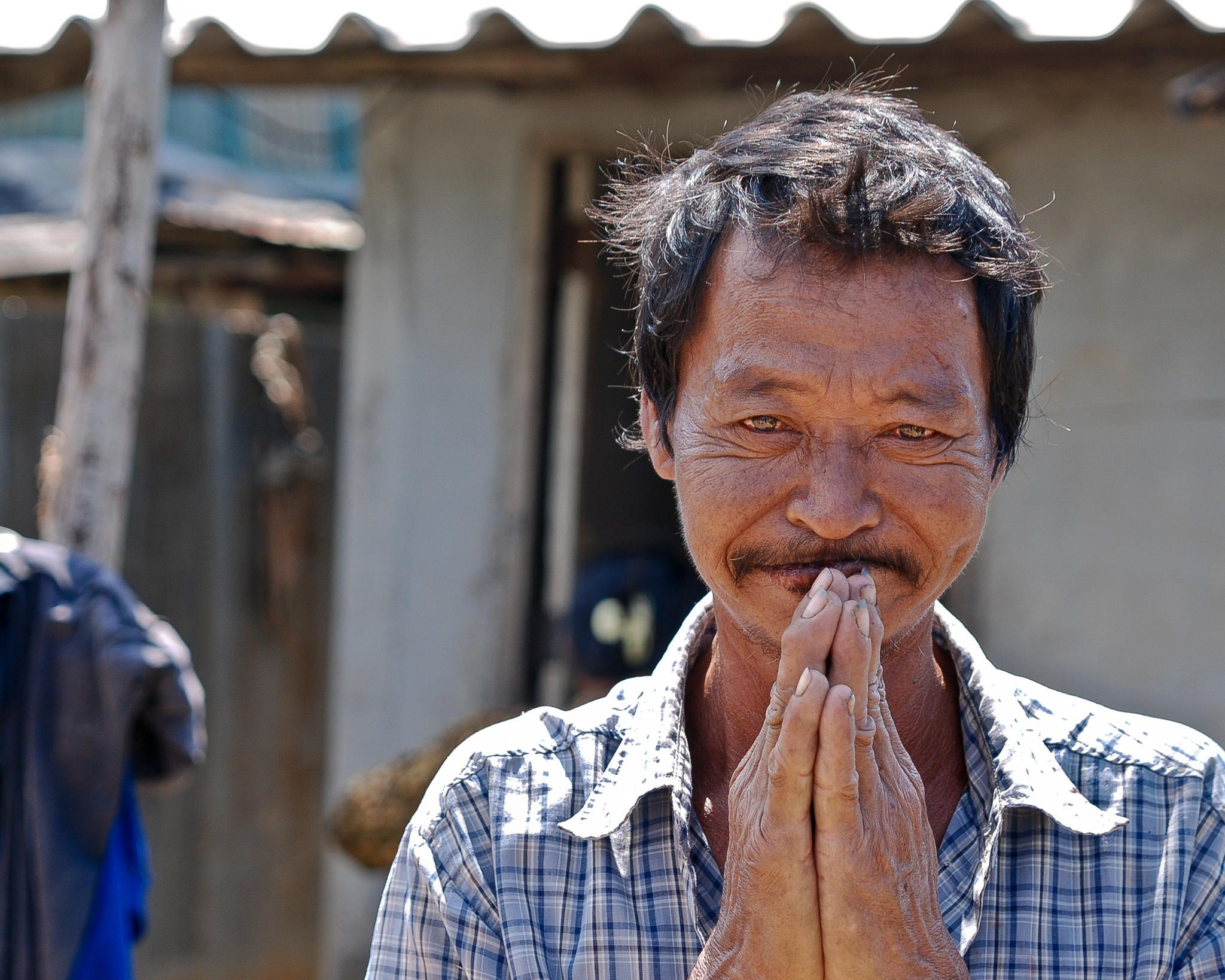 Thai man a man gives me a traditional greeting in thailand wai thai man a man gives me a traditional greeting in thailand kristyandbryce Choice Image