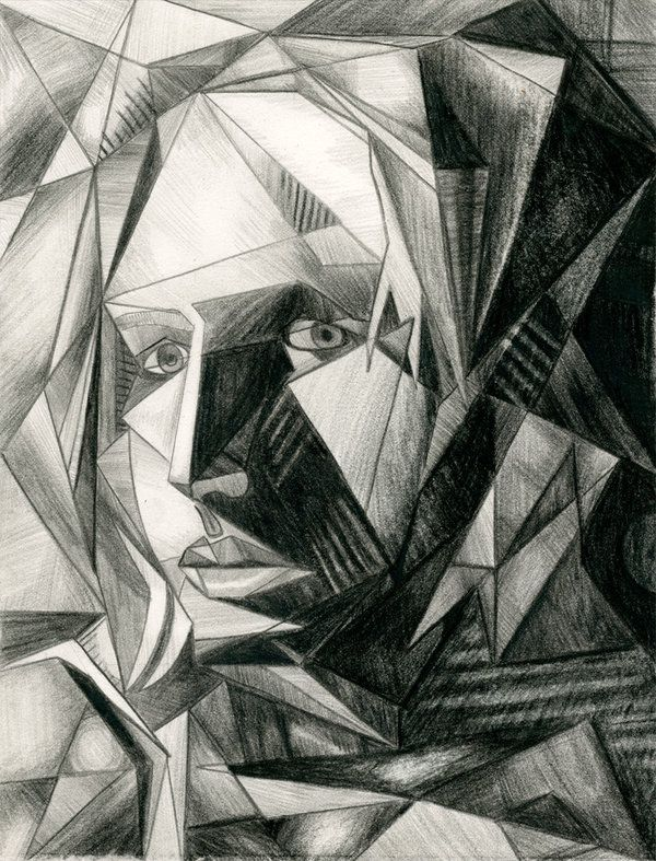 how to draw cubism face