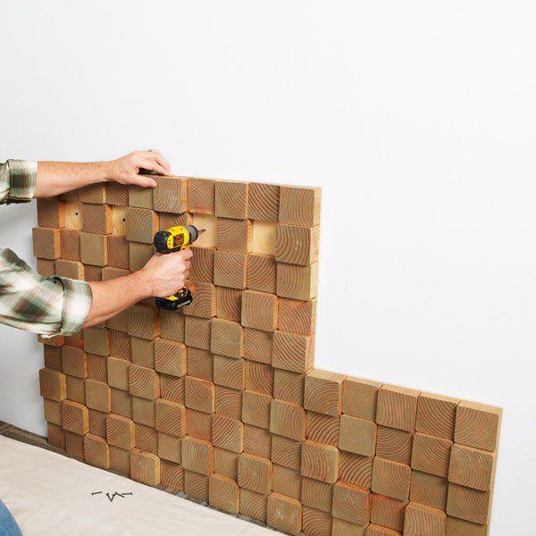 decorar paredes Dom Pinterest Project ideas, Wall decor and Walls - decoracion con madera en paredes