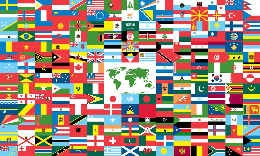 In keeping with World Flag tradition, there are many symbolic reasons behind the placement of individual country flags. Description from theworldflag.org. I searched for this on bing.com/images
