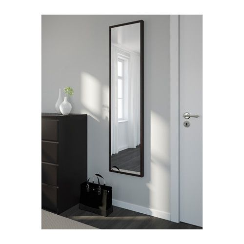 stave spegel svartbrun 40x160 cm ikea hallway. Black Bedroom Furniture Sets. Home Design Ideas