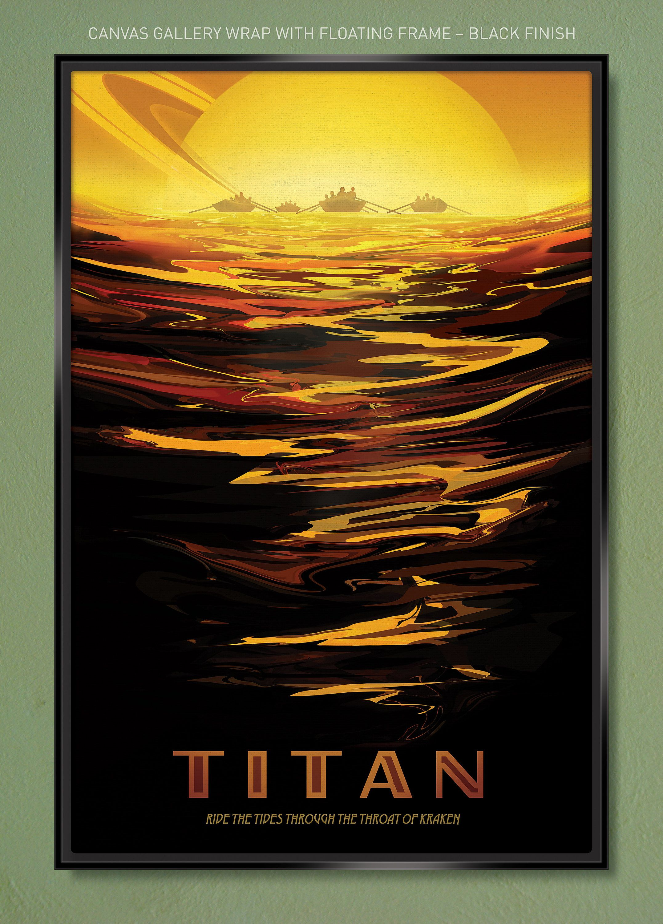 """Titan NASA JPL """"Visions of the Future"""" Primary Art Only"""