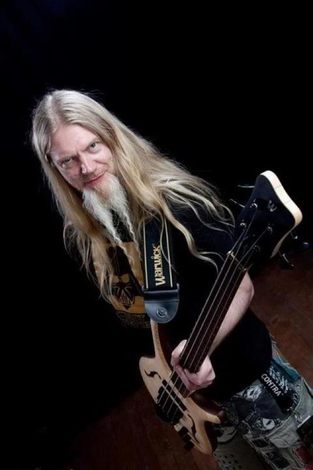 Marco Hietala with his Warwick Infinity.