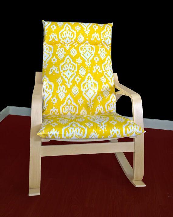 Ikea Poang Cushion Slipcover Raji Yellow By Rockincushions