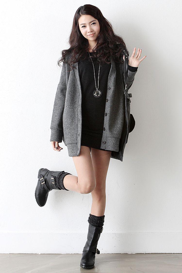 Ulzzang Cute Korean Winter Outfits - ADDICFASHION