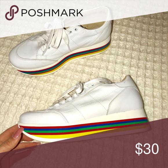 f4078617f11 Steve Madden rainbow platform sneakers Rainbow platform sneakers Steve  Madden Shoes Sneakers