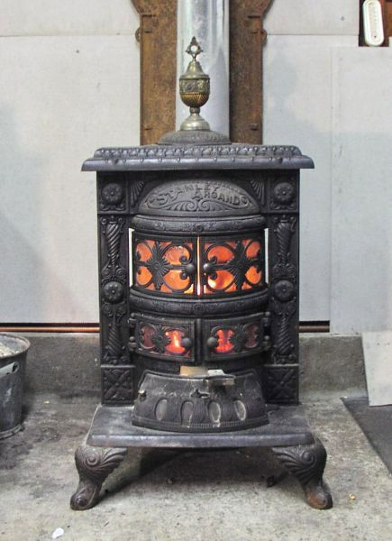 old and antique cole stoves | Antique Wood and Coal stove - ANTIQUE 1890's ORNATE RARE CAST IRON PARLOR STOVE By BRIDGE BEACH