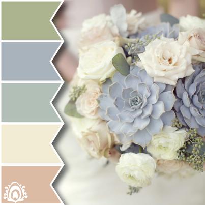 Delicadas flores paleta de colores pastel pluma estudio