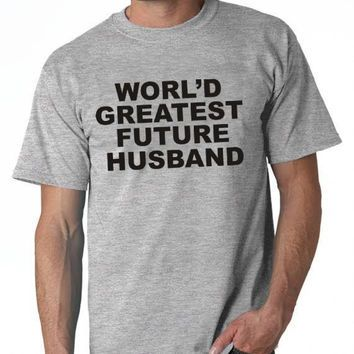 Worlds Greatest Future Husband Shirt Fiance Christmas Birthday Bachelor Party Men Tee Tshirt For Him