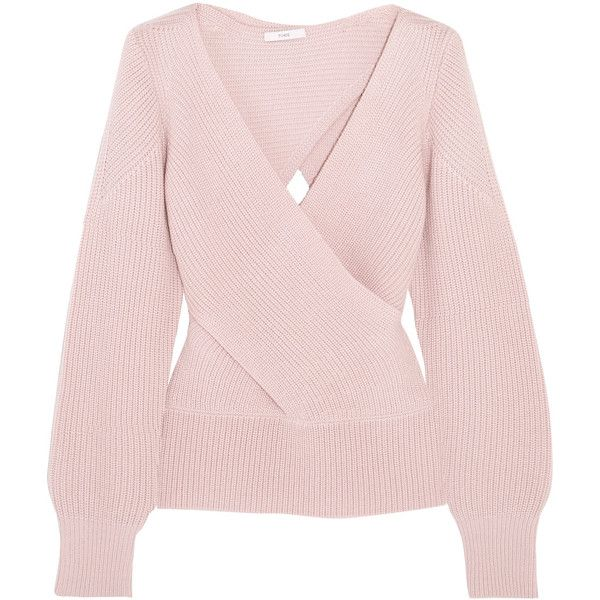 TOME Wrap-effect ribbed wool sweater (1,695 PEN) ❤ liked on ...