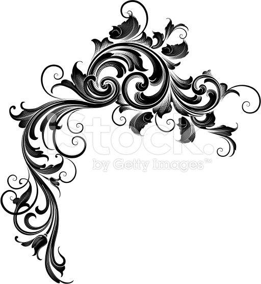 Ornate Cascade royalty-free stock vector art