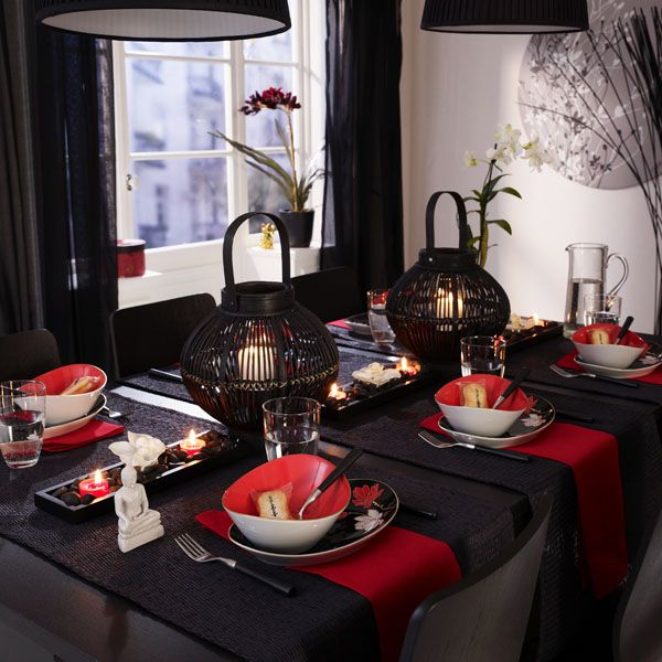 asian tablescape bring in the sushi black pinterest. Black Bedroom Furniture Sets. Home Design Ideas