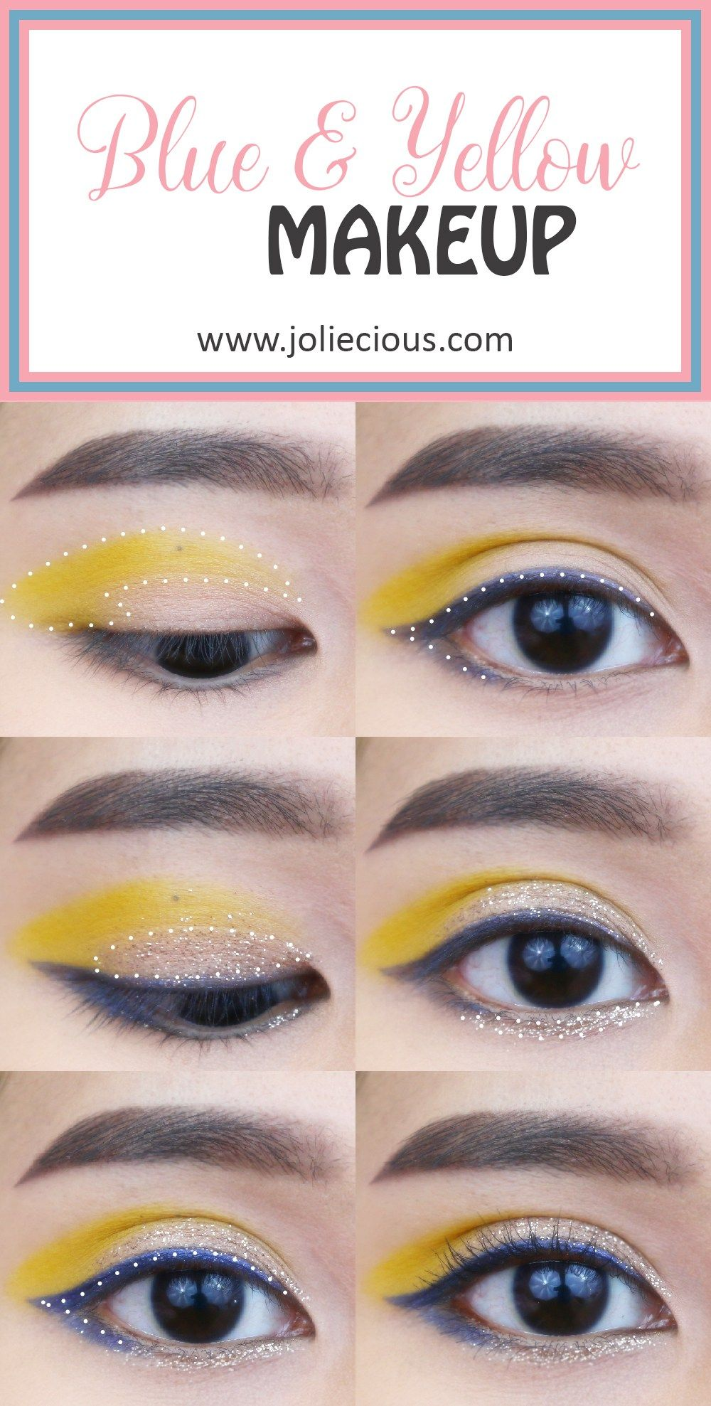 5d9e9406f78 Bold color makeup tutorial | Blue and yellow makeup | Easy makeup tutorial  for beginner | BH Cosmetics Take Me Back to Brazil palette #makeuptutorials  ...