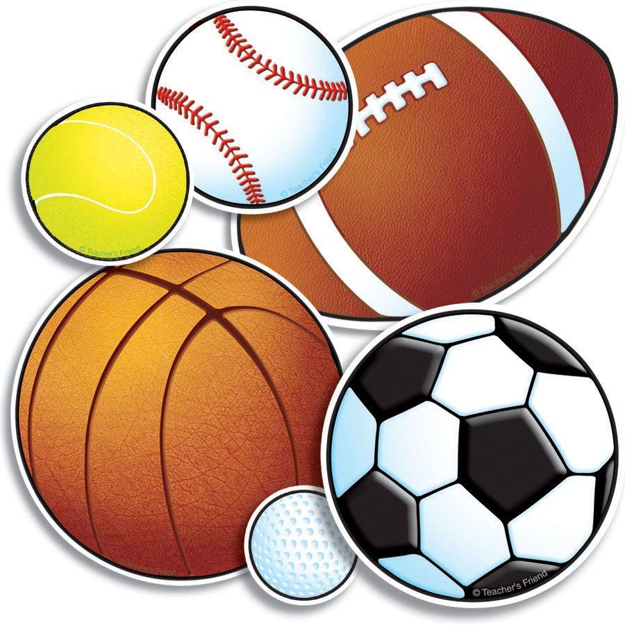 Pix For Sports Balls Clipart Sports Balls Sports Day Decoration Sports Bulletin Boards