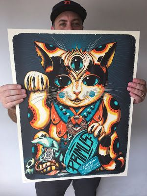 Jeff Soto Primus Mankato Poster http://ift.tt/2u6fJBE... #Arsetculture #Inside_the_Rock_Poster_Frame #Gig_Posters