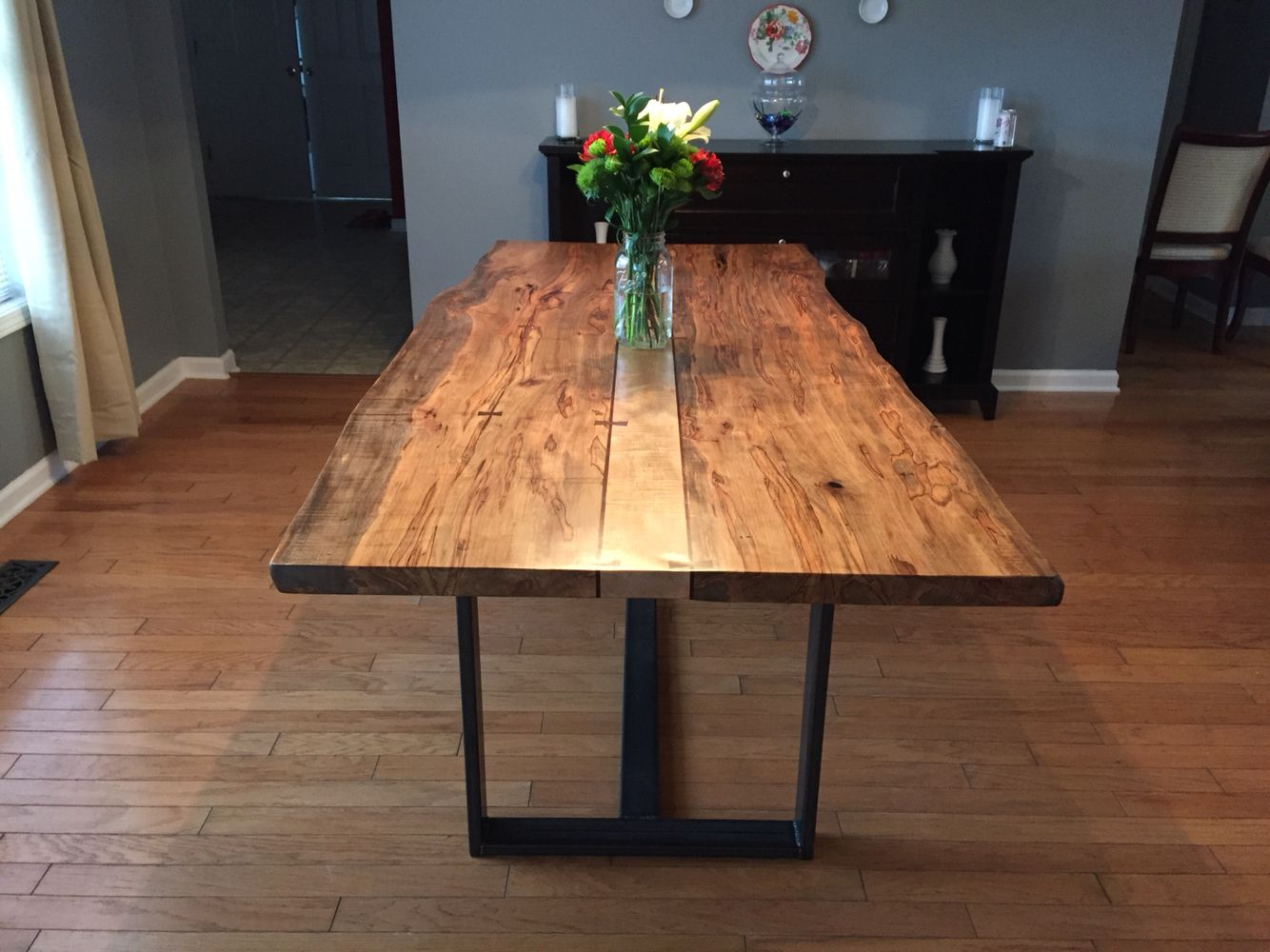 Ambrosia Maple Live Edge Dining Table Furniture Dining