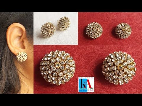 5c686acd4 making of Earring Studs / Patches at Home | Tutorial - YouTube ...