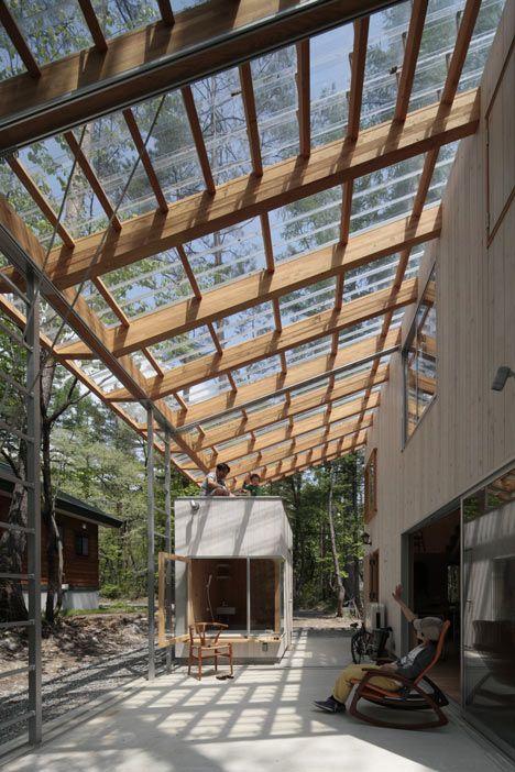 Villa In Hakuba By Naka Studio Piscine Et Jardin Toiture Transparente Et Pergola Terrasse