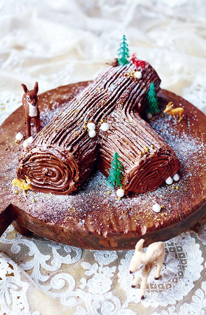 Jamie Oliver Chocolate Log, Sweet Chestnut Purée, Honeyed