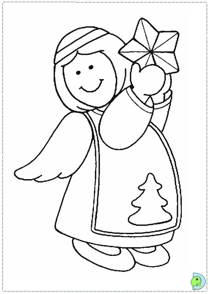 Angel Coloring Page Christmas Angel Colouring Page Angel