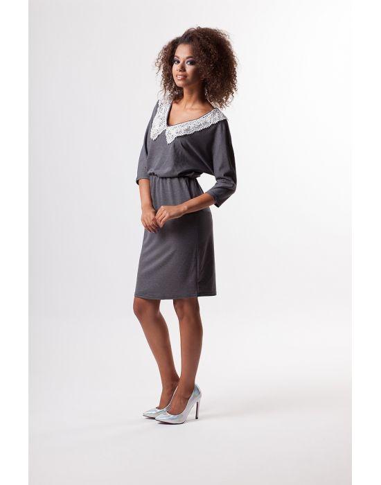 Mosquito Sukienka Z Gipiurowym Kolnierzykiem S 5718577872 Oficjalne Archiwum Allegro Slip Dress Cold Shoulder Dress Fashion