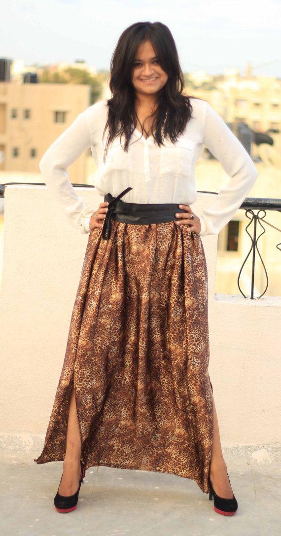 473b7eadc9f178 Leopard Print Maxi Skirt /Boho Skirt Maxi/Circle by aaberi on Etsy, $35.00