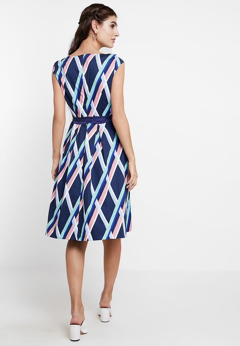 Esprit Collection Printed Day Dress Navy Zalando Co Uk Day Dresses Dresses Dresses For Work