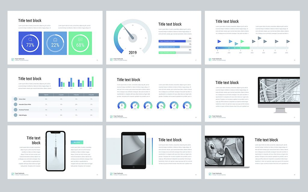 Project Dashboards For Powerpoint Template Templates For Website