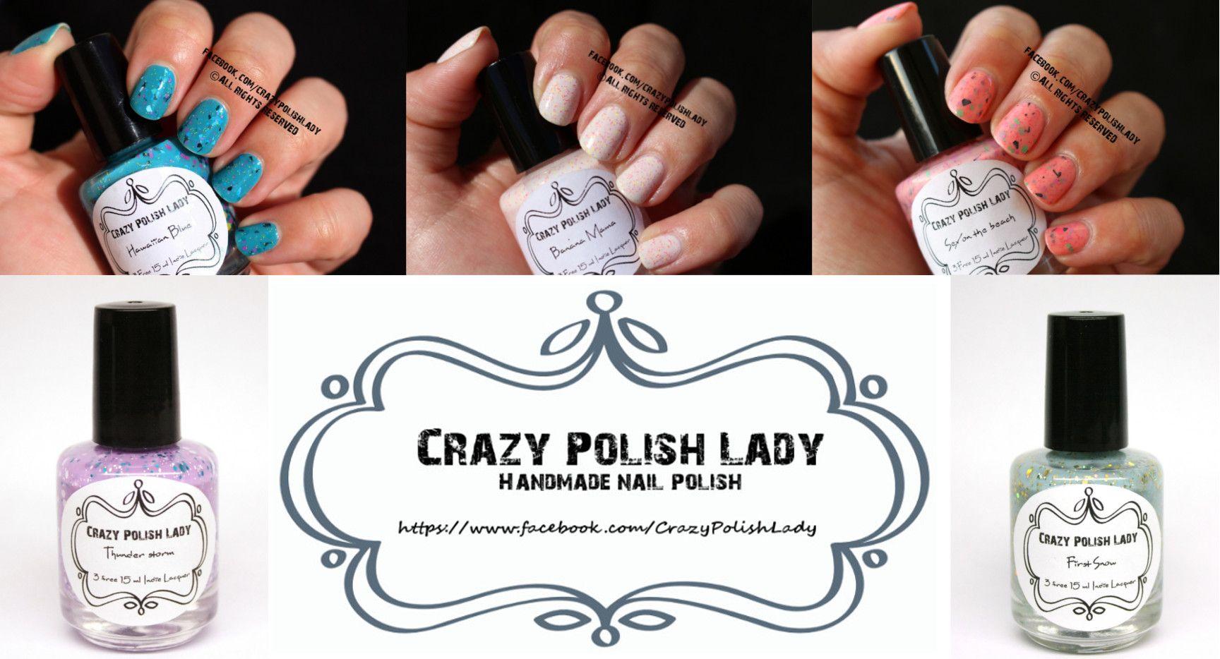 """#Vernizes artesanais hipoalergénicos, produtos #caseiros, produtos #portugueses, no #caseiropt por """"Crazy Polish Lady"""" em Oliveira de Azemeis, Aveiro."""