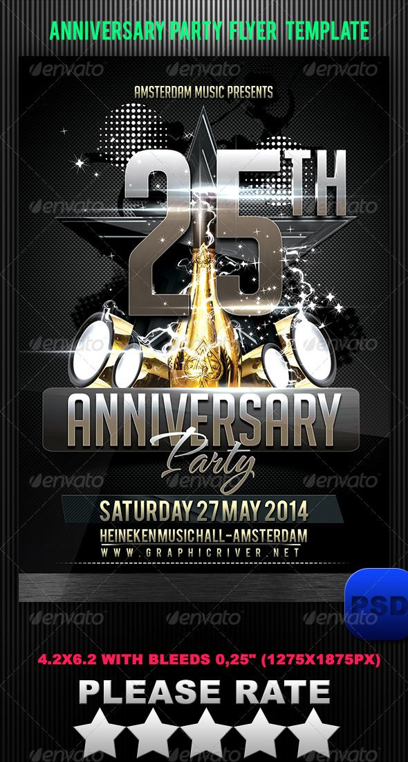 Anniversary Party Flyer Template – Anniversary Flyer