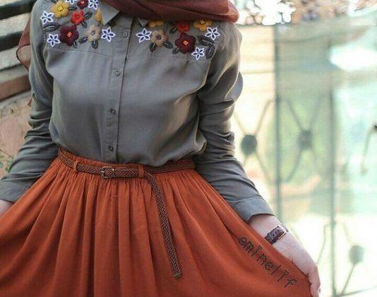 16b42f545027fb Comment Porter La Jupe Longue Avec La Hijab : Voici 30 Modèles pour ...