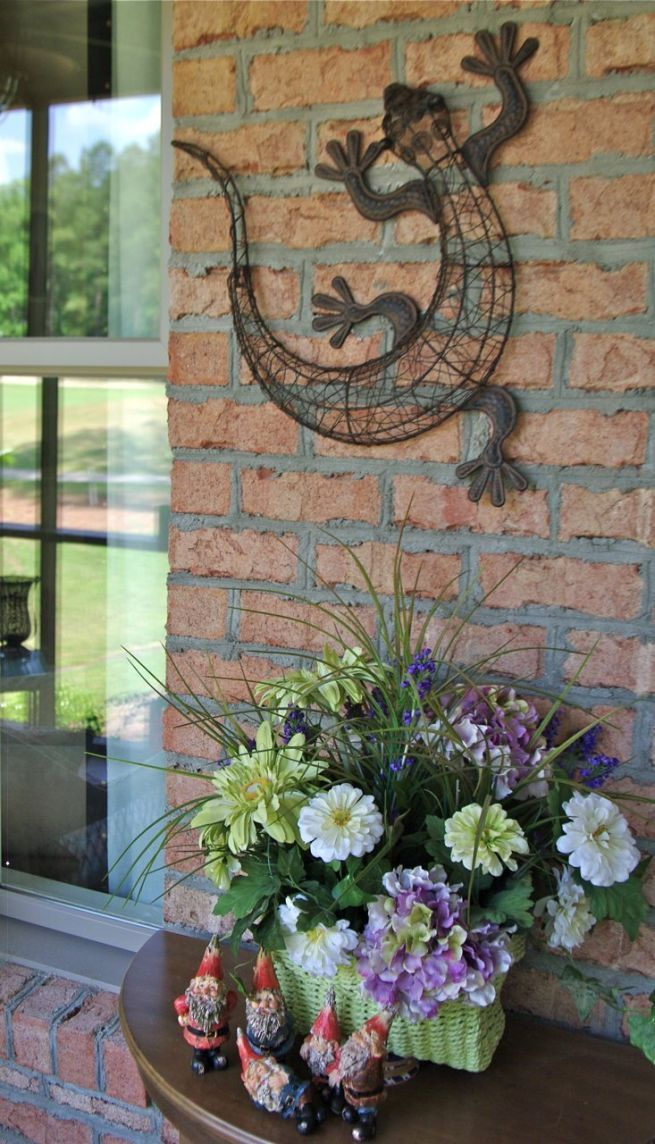 Genial Cheap Outside Wall Decorations Gecko Outdoor Wall Decor : Garden Wall  Decorations Ideas U2013 Outdoor