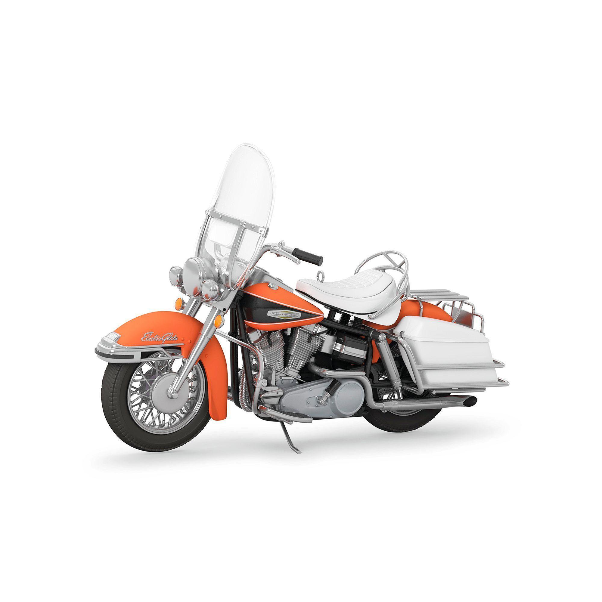 Hallmark Keepsake 2019 Harley-Davidson 1968 Flh Electra Glide Dated Christmas Ornament Harley Davidson 1968 FLH Electra Glide No. 19 2017 Hallmark