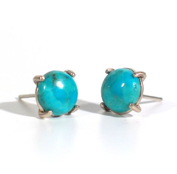 Turquoise Stud Post Earrings