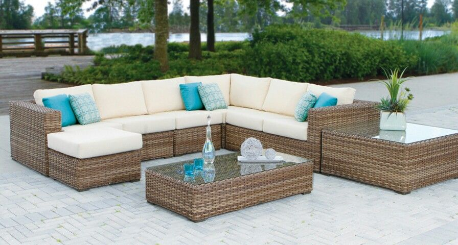 Merveilleux Nottingham Sectional With Sunbrella Cushions #sectional #wicker #ratana # Sunbrella #patio #furniture #insideout