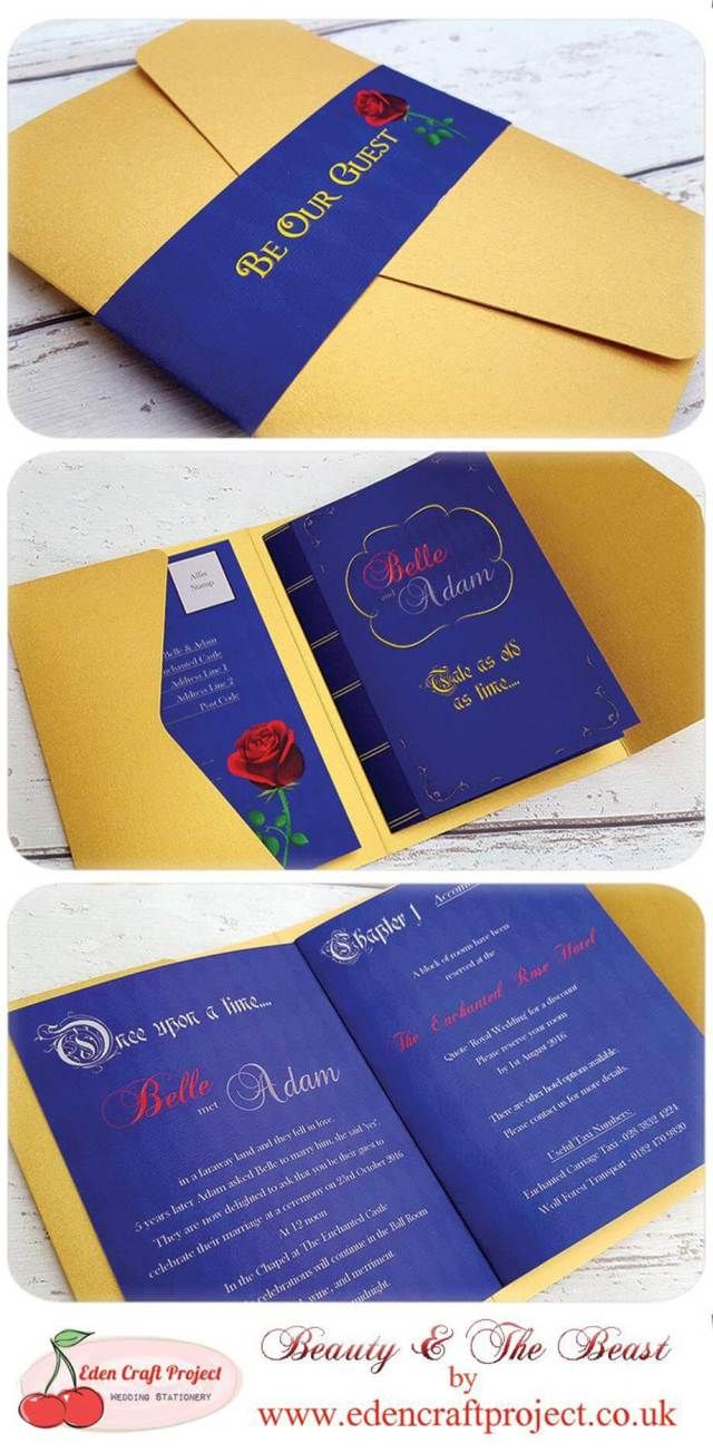 18 Beauty And The Beast Wedding Invitations | Beast, Weddings and ...