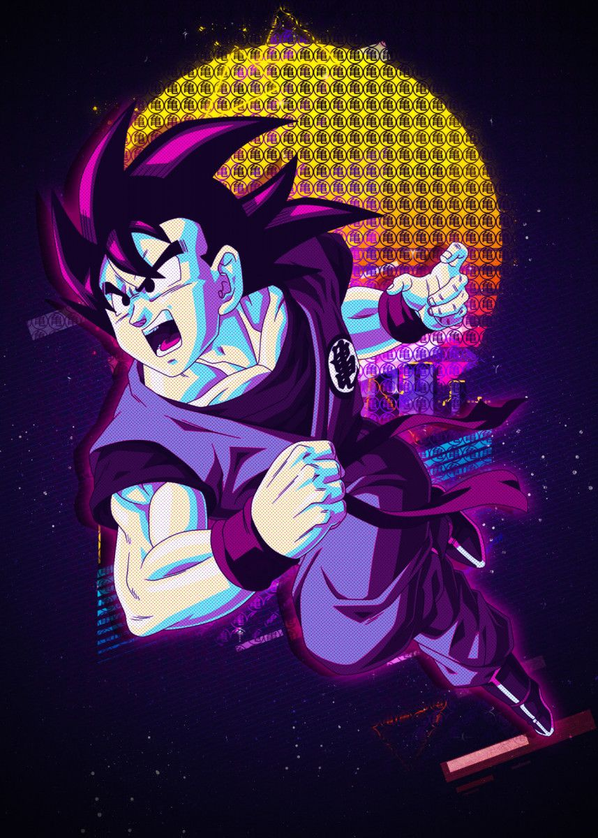 'GOKU Dragonball' Poster Print by Introv Art | Displate