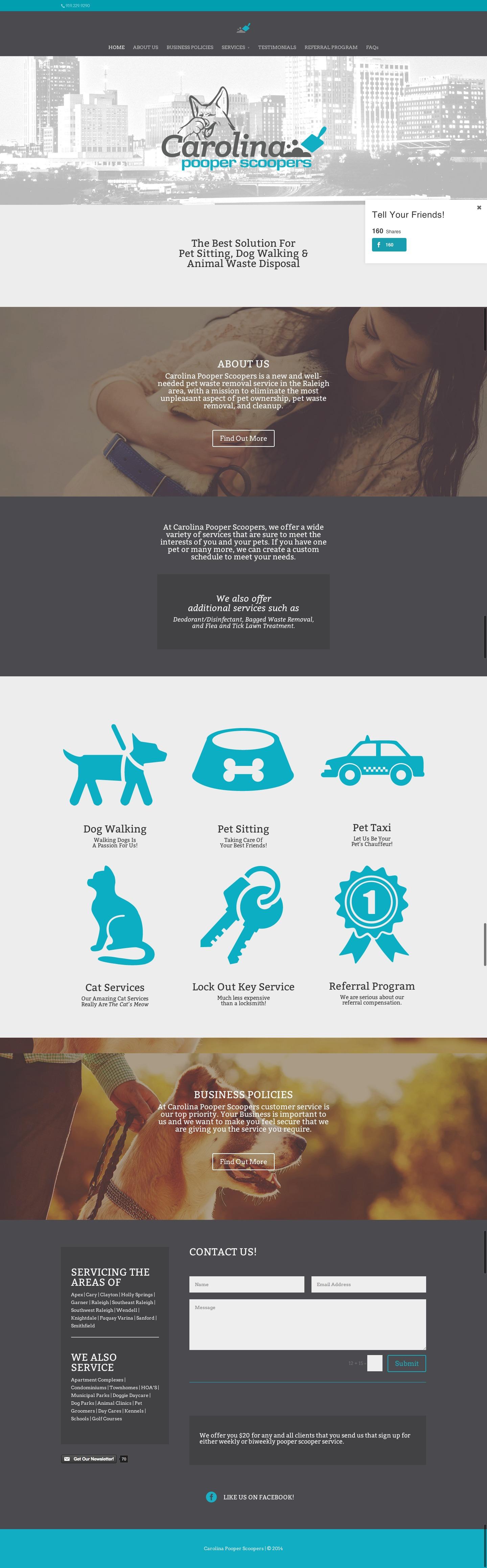 Carolina Pooper Scoopers Website Design Pooper Scooper Design Graphique