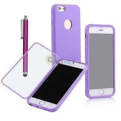 For-Apple-4-7-iPhone-6-TPU-Wrap-Up-Case-w-Built-in-Screen-Protector-Purple