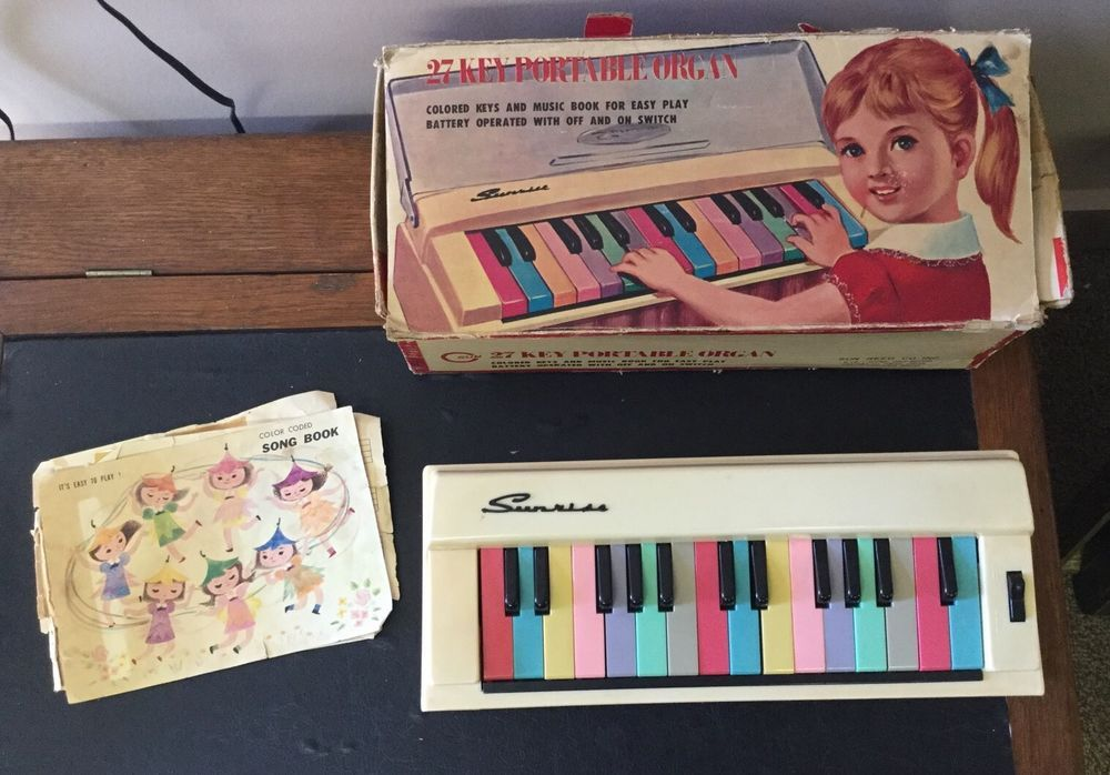 Sunrise 27 Key Portable Organ Child 039 S Toy W Box Sun Reed Co Japan Color Keys Ebay Toy Instruments Kids Toys Song Book